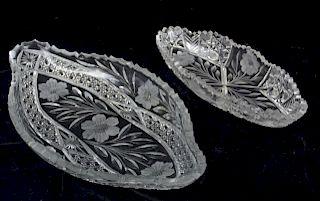 American Brilliant Period Glass Serving Dishes