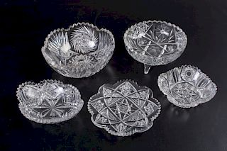 American Period Cut Glass Group