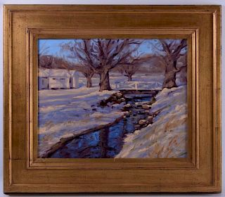 Andre Lucero Oil on Panel Landscape