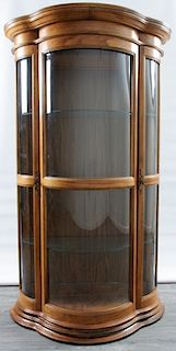 Bowfront Glass Display Cabinet