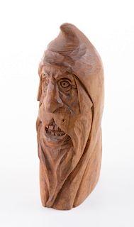 John L. Heatwole Carved Wood Figure