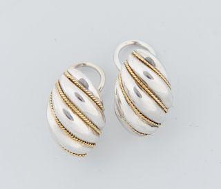 Tiffany & Co. Sterling & 18K Shrimp Earrings