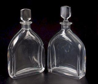 Orrefors Crystal Decanters Pair