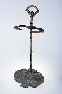 Italian Cast Brass Fire Companion / Umbrella Stand