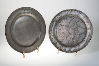William Wood II & George II Pewter Chargers Duo