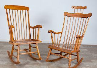 Thomas Pacconi & Bent Bros. Windsor Rocking Chairs