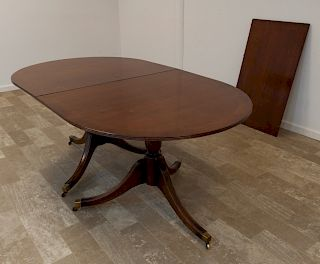 Duncan Phyfe Style Double Pedestal Dining Table