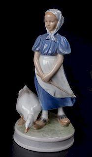 Royal Copenhagen Goose Girl #527 Figurine