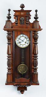 Becker Attrib. Vienna Regulator Wall Clock, 19th C