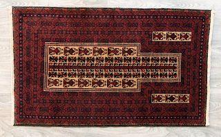 """Baluchi 2'10"""" x 4'8"""" Prayer Rug"""