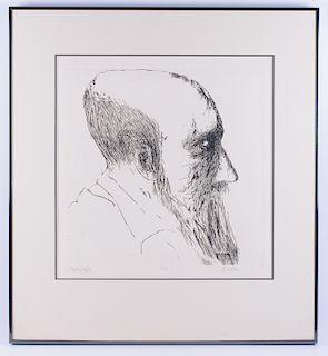 Leonard Baskin Monticelli Original Etching
