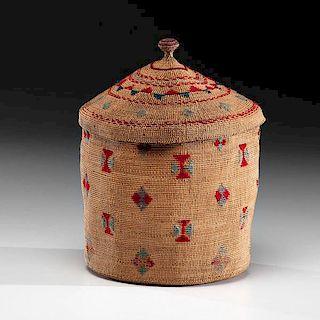 Attu Lidded Polychrome Basket