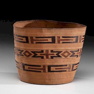 Tlingit Polychrome Basket