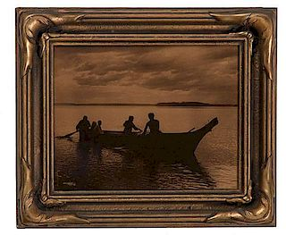 Edward Curtis (American, 1868-1952) Orotone Homeward From the US Children's Museum on the 19th Century