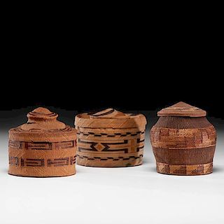 Tlingit Rattle-top and Lidded Baskets From the US Children's Museum on the 19th Century
