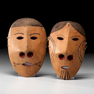 Yupik Eskimo Polychrome Masks