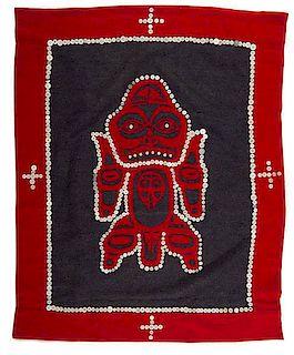 Northwest Coast Wool Button Blanket