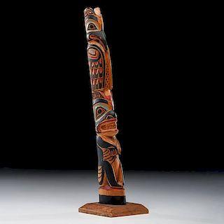Charles Bennett Sr. (Tlingit, 1882-1949) Attributed Totem Pole