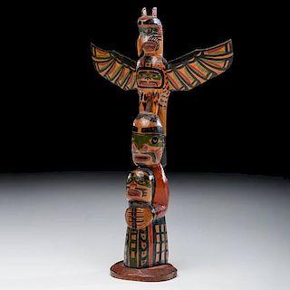 Charlie James (Kwakwaka'wakw, 1867-1938) Polychrome Totem