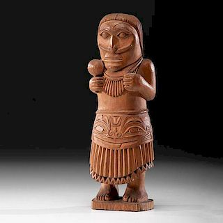 Haida Carved Shaman Figure