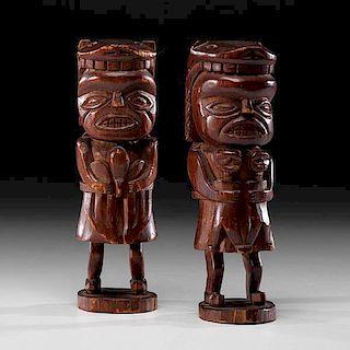 Nuu-chah-nulth Shaman Wood Figures