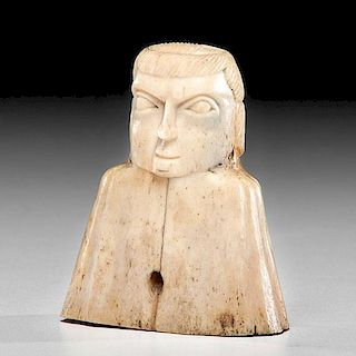 *Haida Carved Bone Figure Container From the US Children's Museum on the 19th Century