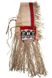 Plateau Beaded Hide Saddle Bags From the US Children's Museum on the 19th Century