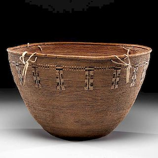 Cowlitz Imbricated Storage Basket From the US Children's Museum on the 19th Century