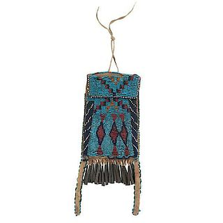 Apache Beaded Hide Strike-a-Light Bag