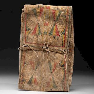 Blackfoot Buffalo Hide Parfleche Envelope From the US Children's Museum on the 19th Century