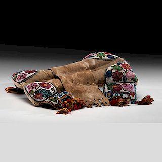 Cree Beaded Buffalo Hide Pad Saddle