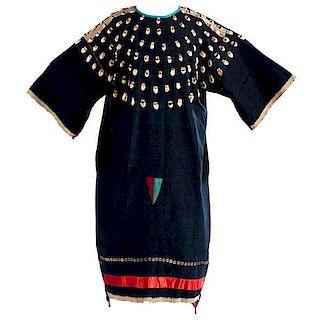 Northern Plains Wool Dress with Imitation Elk Teeth
