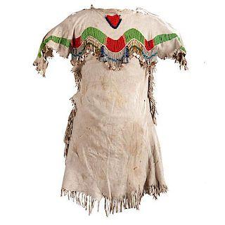 Plateau Child's Beaded Hide Dress