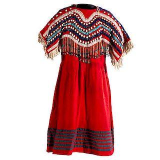 Plateau Beaded Wool Dress