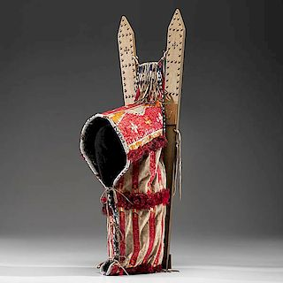 Sioux Beaded and Quilled Hide Cradle From the Fraser Douglass Collection