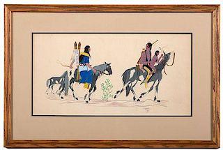 Kiowa Gouache on Paper