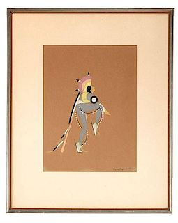 Paul J. Goodbear, Flying Eagle (Cheyenne, 1913-1954) Gouache
