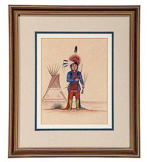 Steven Mopope (Kiowa, 1898-1974) Gouaches