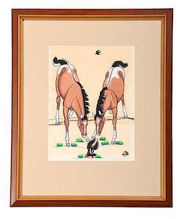 Quincy Tahoma (Navajo, 1921-1956) Gouache on Paper