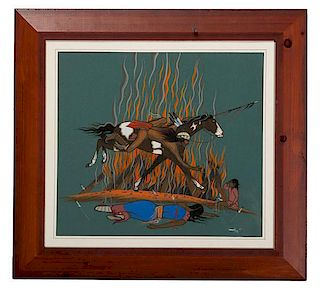 Beatien Yazz (Dine, 1928-2013) Gouache on Paper
