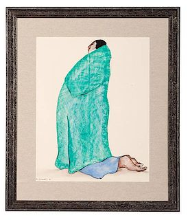 R. C. Gorman (Dine, 1931-2005) Pastel on Paper