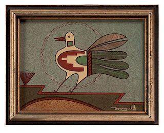 Helen Hardin (Santa Clara, 1943-1984) Acrylic on Board
