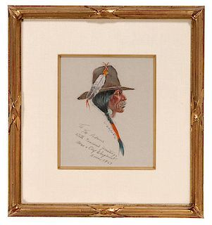 Olaf Wieghorst (American, 1899-1988) Graphite and Watercolor on Paper
