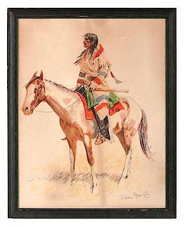 Frederic Remington (American, 1861-1909), Lithograph on Paper