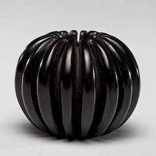 Nancy Youngblood (Santa Clara, b. 1955) Melon Pottery Jar