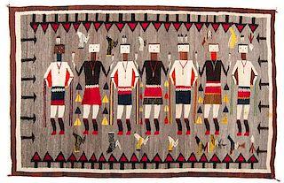 Navajo Yei Weaving / Rug Collected by Edith M. Felton (1875-1965)