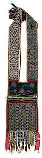 Anishinaabe [Ojibwe] Loom Beaded Bandolier Bag