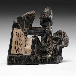 Haida Argillite Figural Carving Remnant From the US Children's Museum on the 19th Century