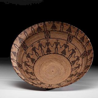 Tulare Friendship Polychrome Basket From the Collection of Mrs. J. W. Howard