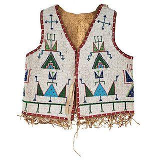 Sioux Beaded Hide Vest